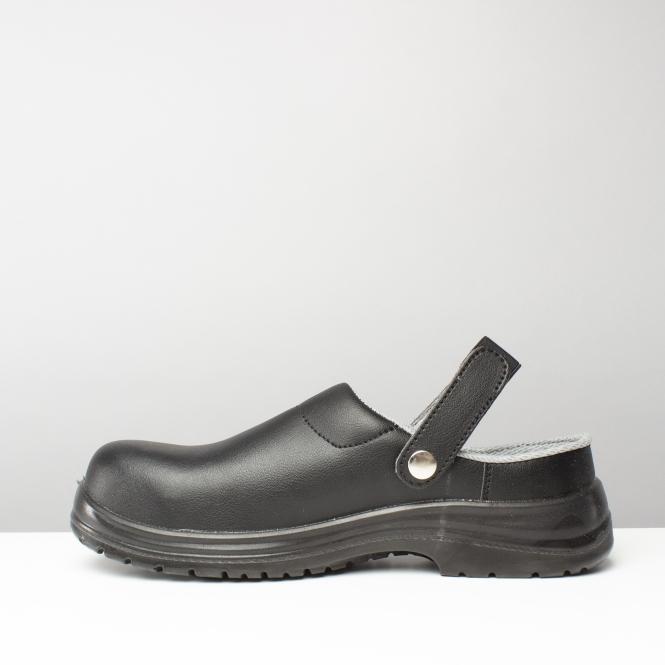 Amblers Safety FS514 Unisex Mens Womens Ladies SB Steel Toe Safety Clogs Black