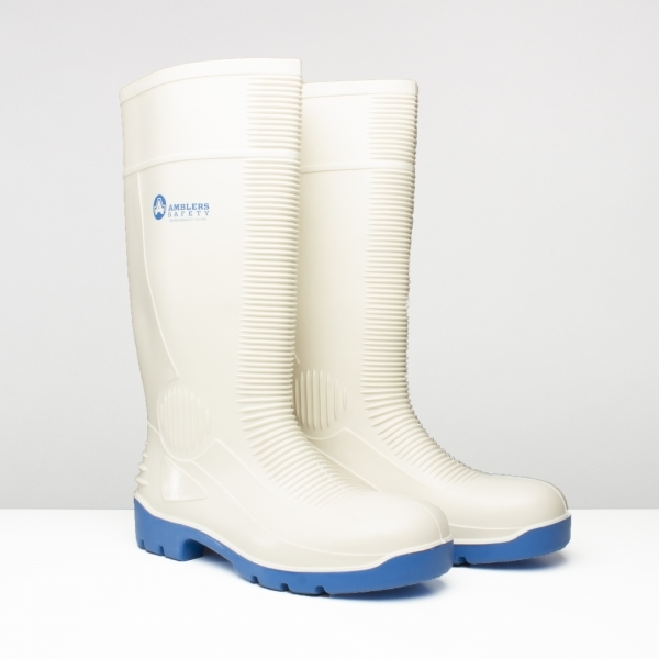 Amblers FS98 White Safety Wellington Boot 4-13 