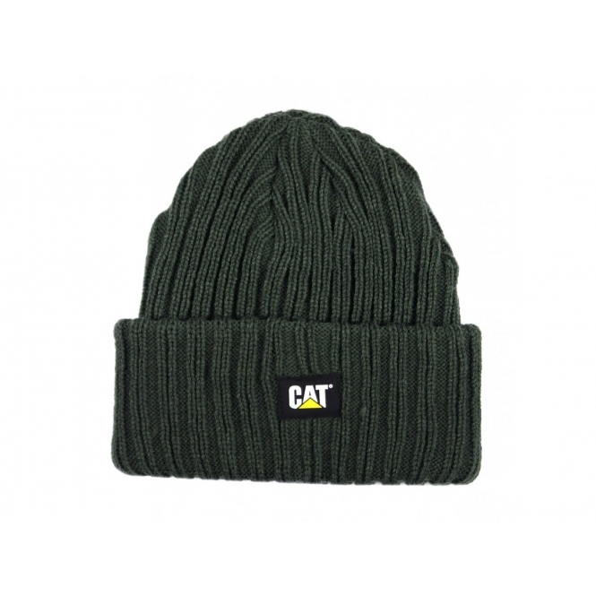 29e60427 Cat ® C443 Mens Warm Comfort Beanie Hat Dark Green|SteelToeBoots.co.uk