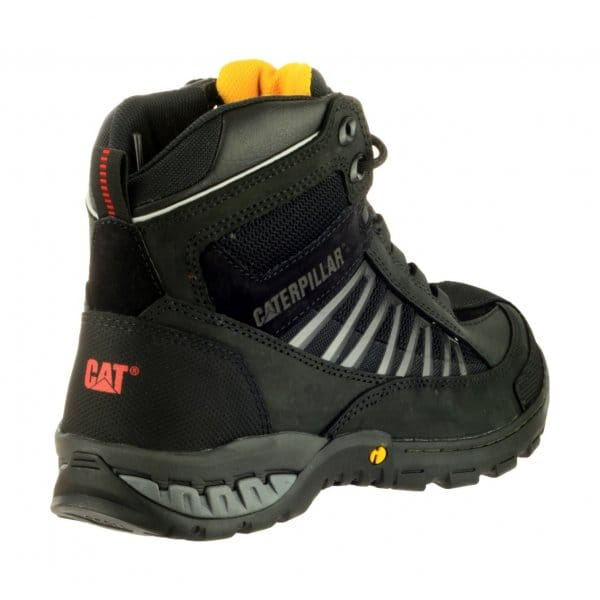 Caterpillar Kaufman Mens Lace-Up Safety Boot Black ...