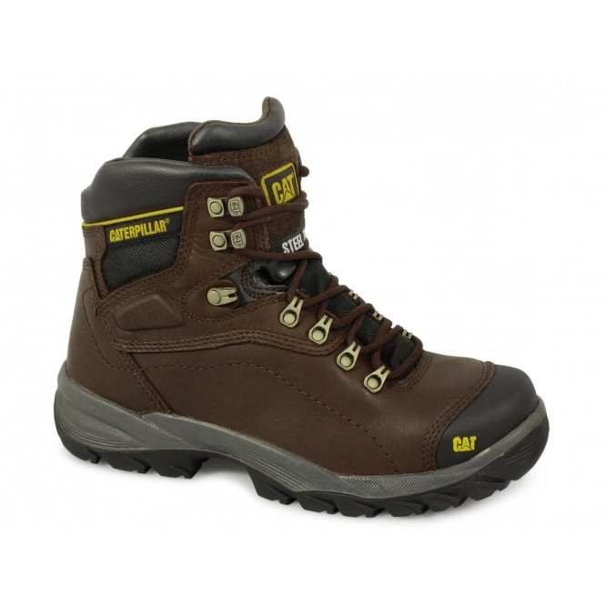 Cat Diagnostic Mens S3 Hro Src Safety Boots Brown Steeltoeboots