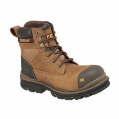 GRAVEL S3 P717675 Mens Leather Safety Boots Dark Beige e6851bb079