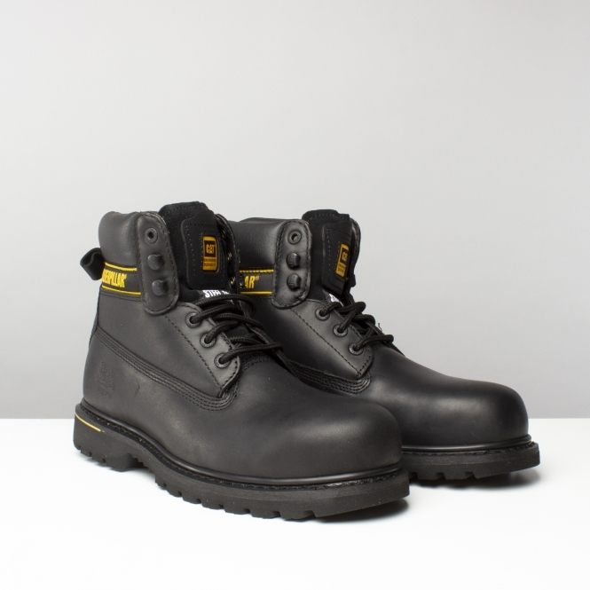 Holton Sb Mens Leather Safety Boots Black