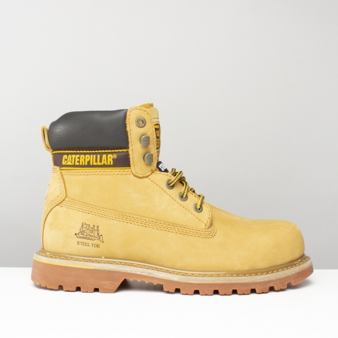 1575550f486b8 Caterpillar Holton SB Steel Toe Work Safety Boot Honey