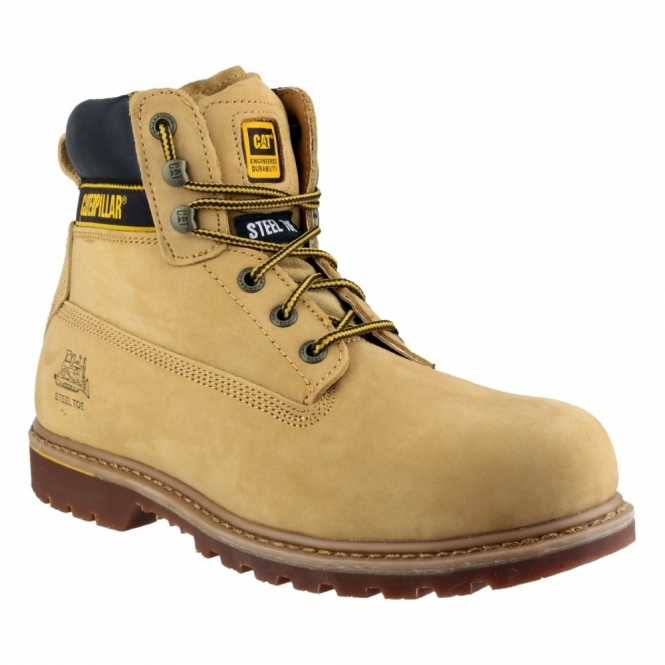 HOLTON SB Mens Leather Safety Boots Honey
