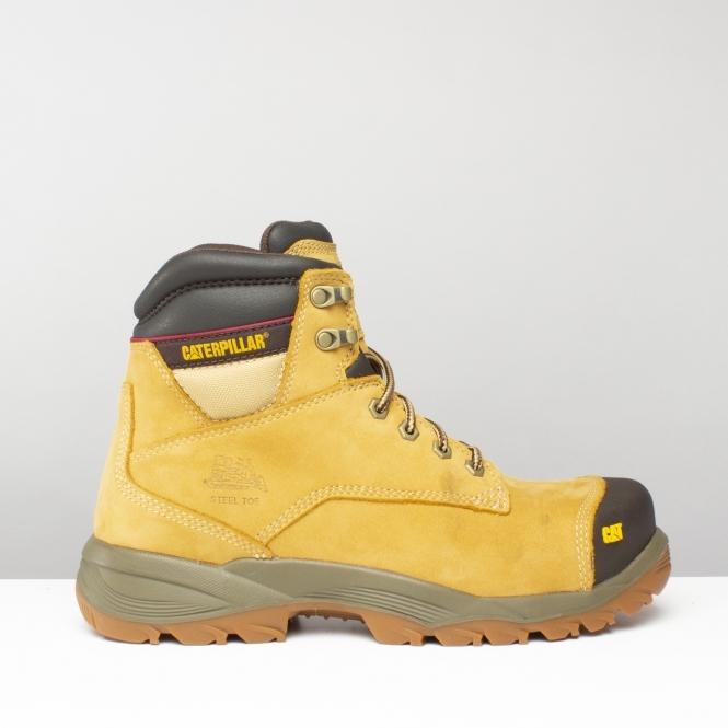66eeb62a6f30 Caterpillar SPIRO Mens S1 Safety Boots Honey Brown