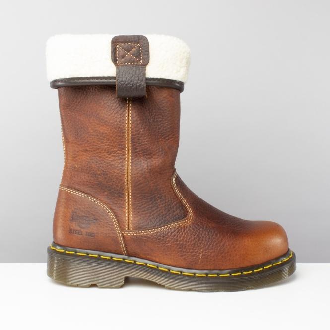 b11eeb2c3 Dr Martens ROSA ST Ladies Steel S1 SRA Rigger Boots Teak|SteelToeBoots
