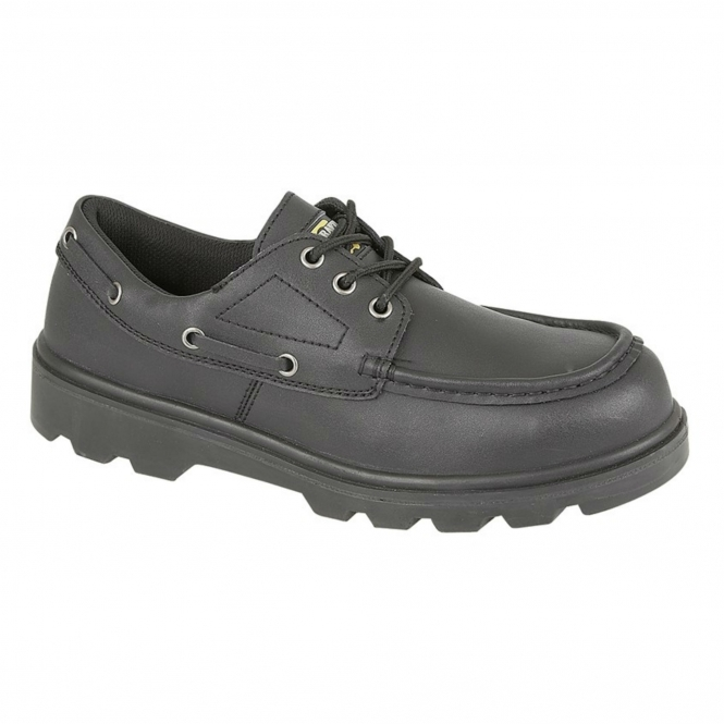 Safety Boat Shoe Black | Steel Toe Boots