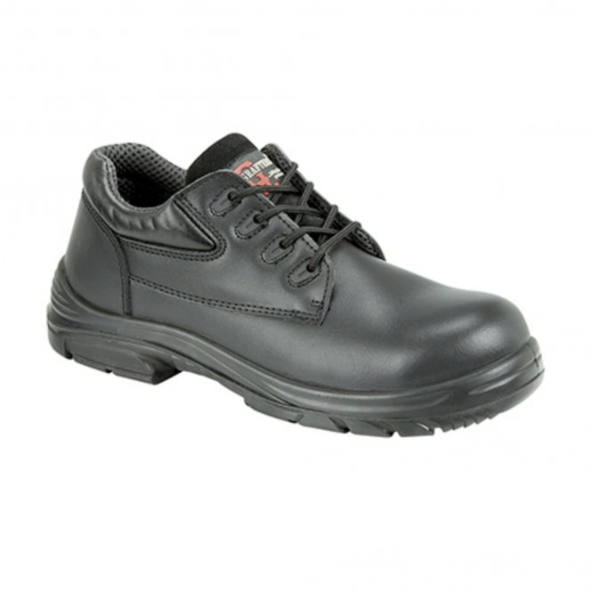 008d52fbc13 Grafters M9504A Mens Leather Super Wide Safety Shoes Black