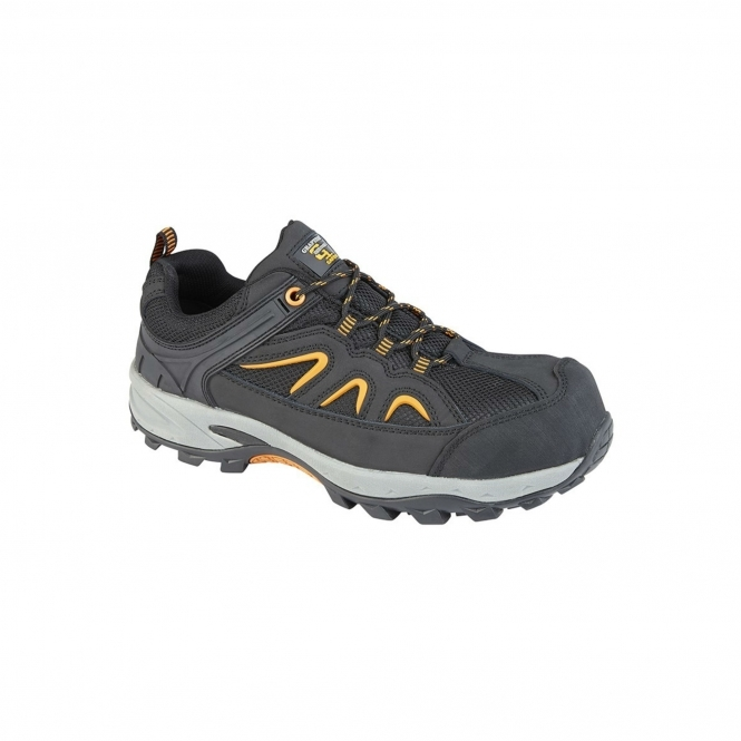 Composite Toe Cap Safety Trainers Black