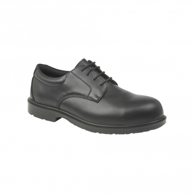 01737e9793aa8f Grafters M9774A Gibson Formal Safety Shoes Black | Steel Toe Boots