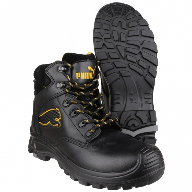 bb1e67db304e BORNEO MID 6304110 S3 Mens Safety Leather Boots Black