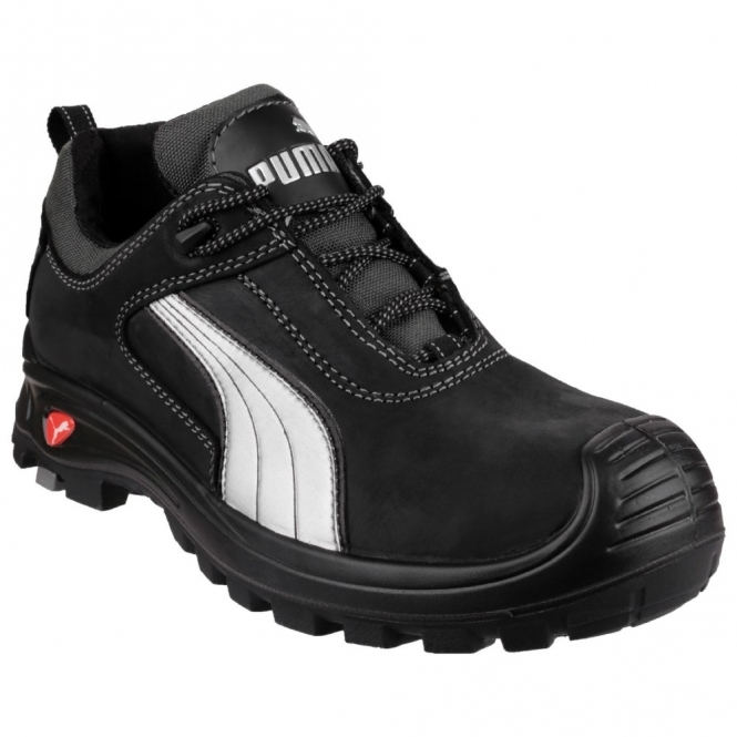 Puma Safety Cascade Low Mens Leather Safety Shoes Black Steeltoeboots