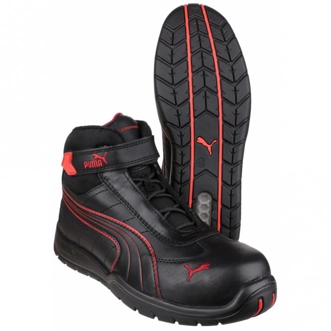 4c595fc76b3 Puma Safety DAYTONA MID 632160 Mens Safety Leather Boots Black