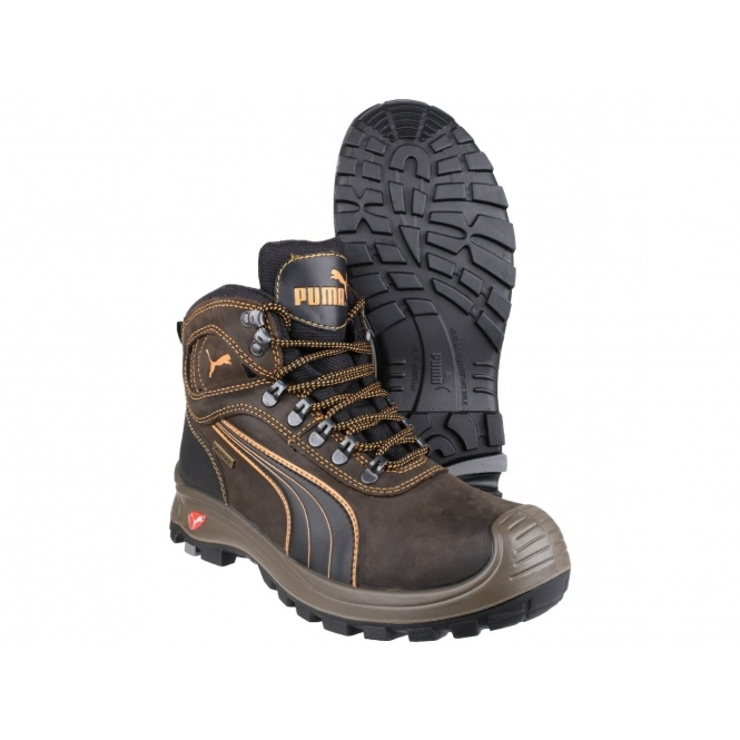 SIERRA NEVADA MID 630220 Mens Safety Leather Boots Brown edd089138ea