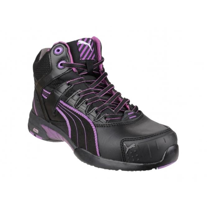 4e1d0daeb00 Puma Safety STEPPER MID Ladies Leather Safety Shoe Black